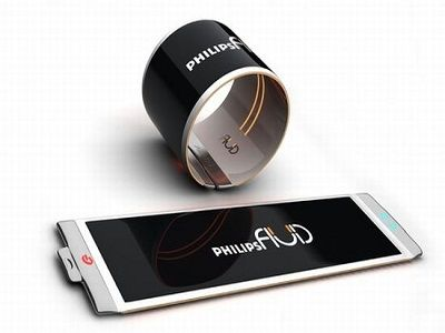 philips fluid cellphone smartphone flexible screen concept phones oled display fashion accessory. Black Bedroom Furniture Sets. Home Design Ideas